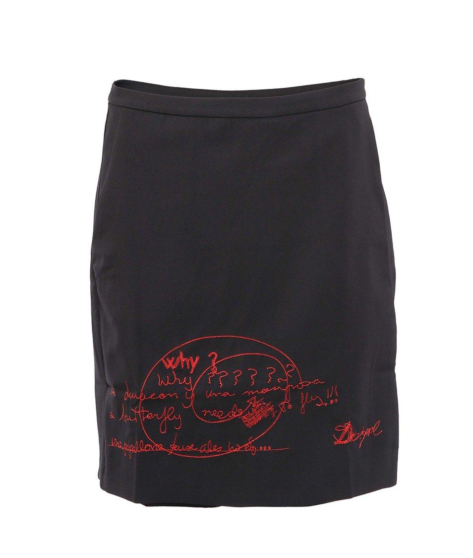 Černá sukně/šortky s potiskem Desigual Dance
