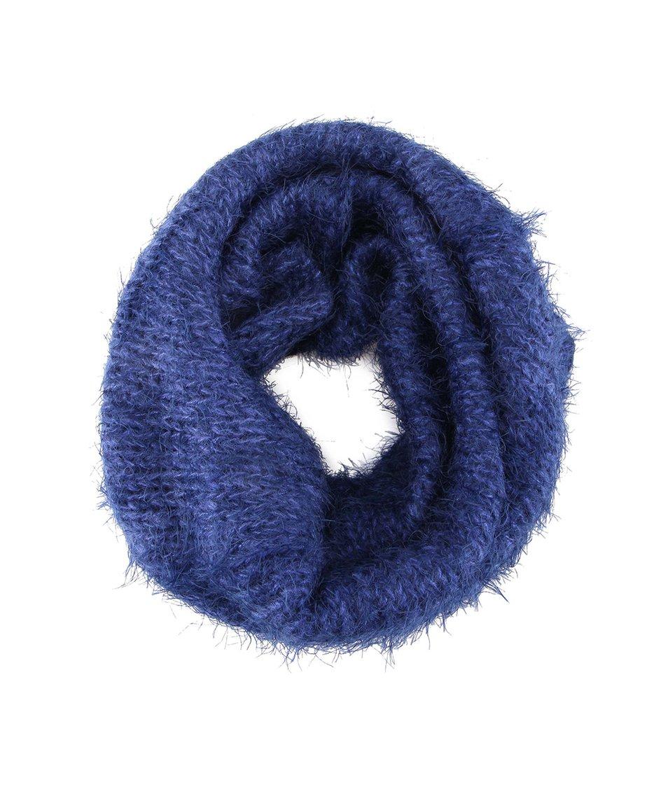 Modrá dutá šála INVUU London e9ef569806