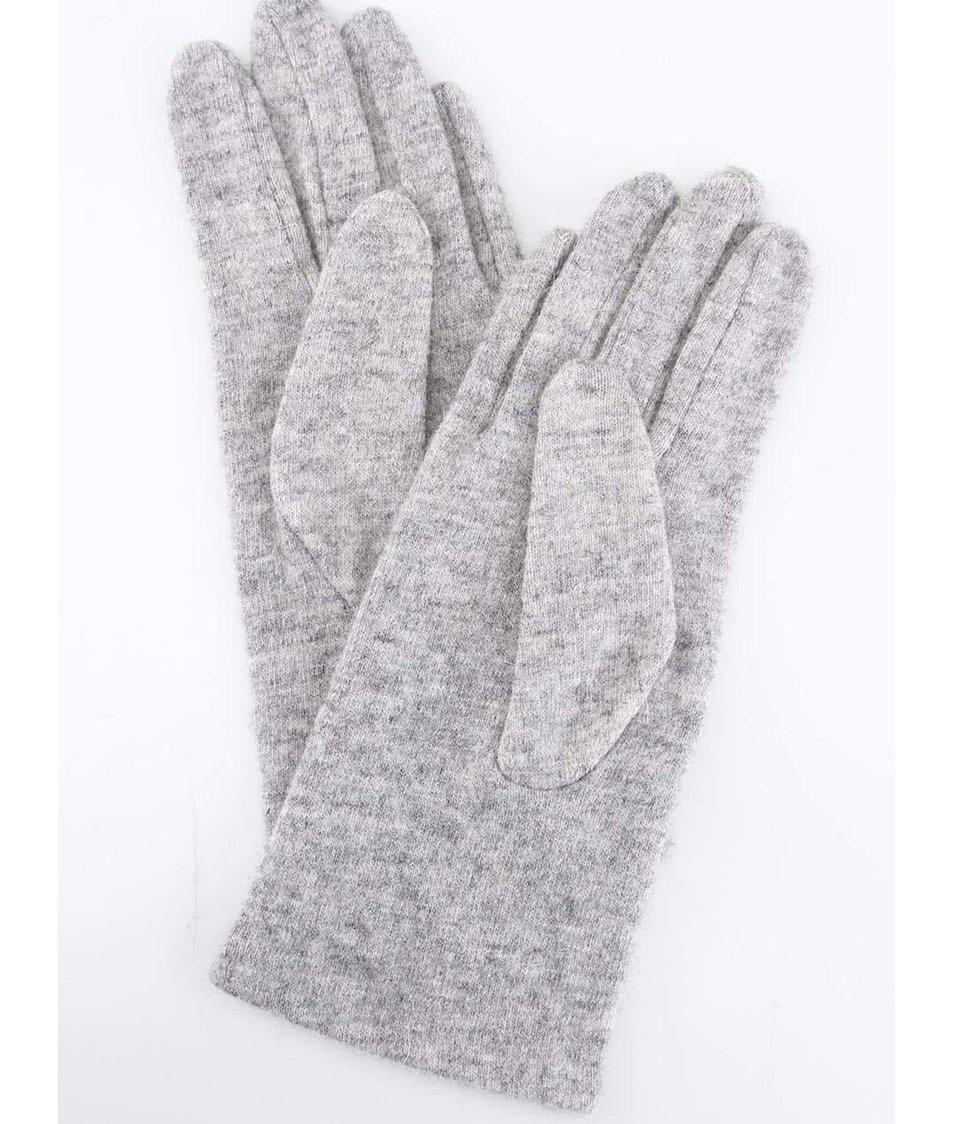 Šedé dámské rukavice INVUU London