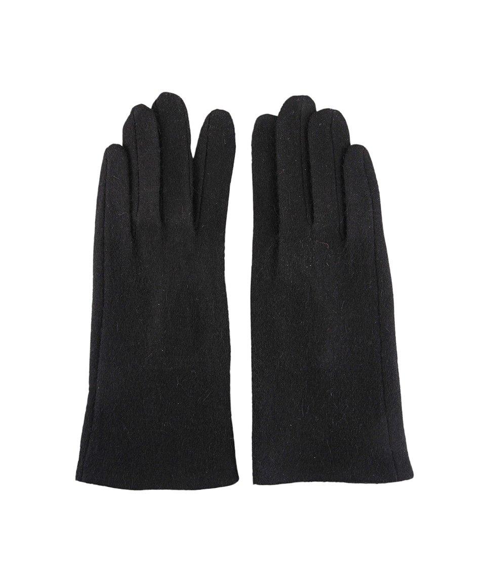 Černé dámské rukavice INVUU London