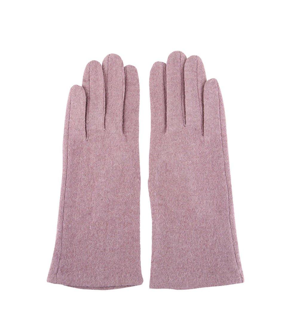Růžovofialové dámské rukavice INVUU London