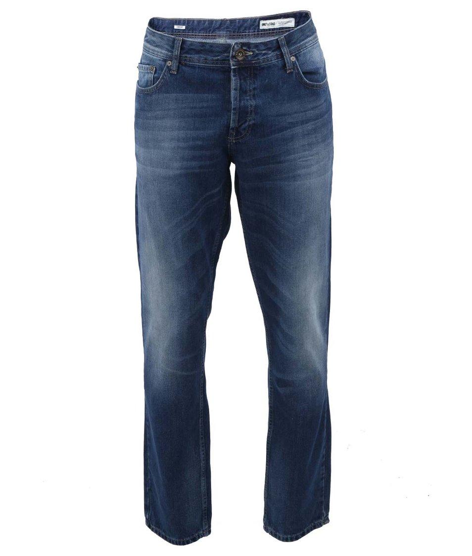 Modré džíny se sepraným efektem ONLY & SONS Avi