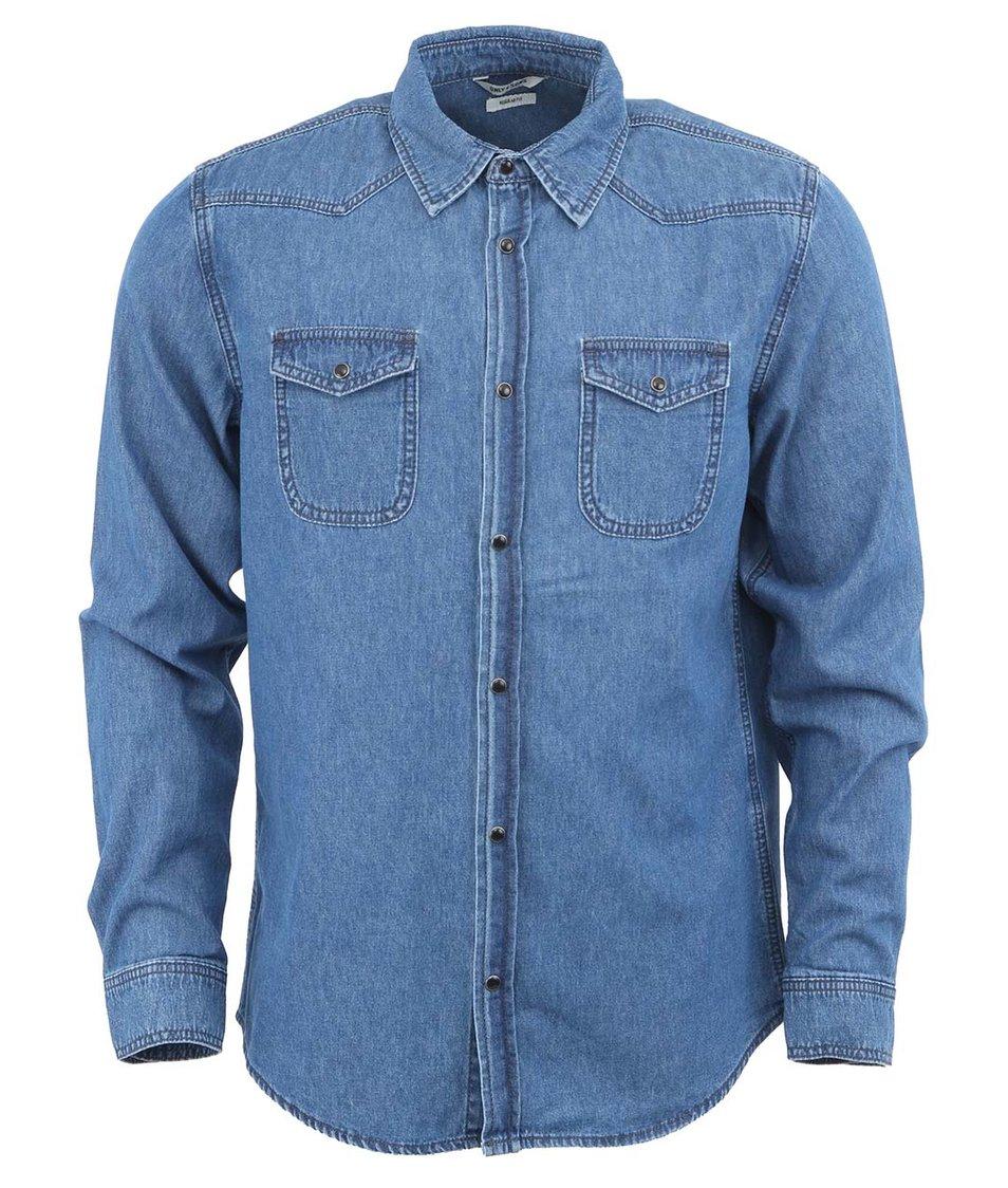 Světle modrá džínová košile Only & Sons Jay Western