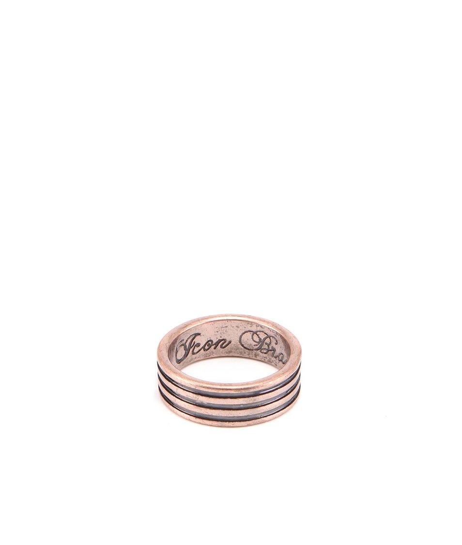 Prsten bronzové barvy Icon Brand Medium