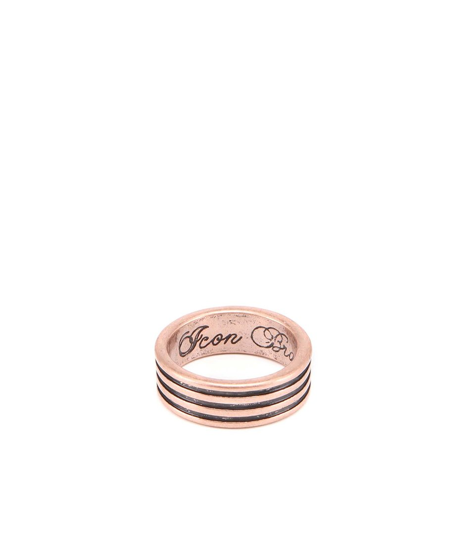Prsten bronzové barvy Icon Brand Large
