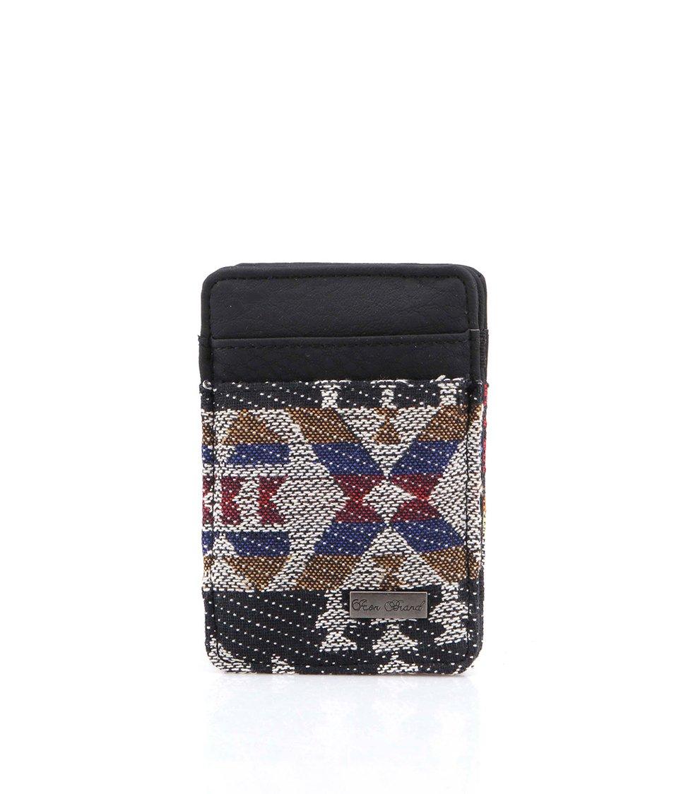 Černá kapesní peněženka s aztéckým vzorem Icon Brand Citizen Kane