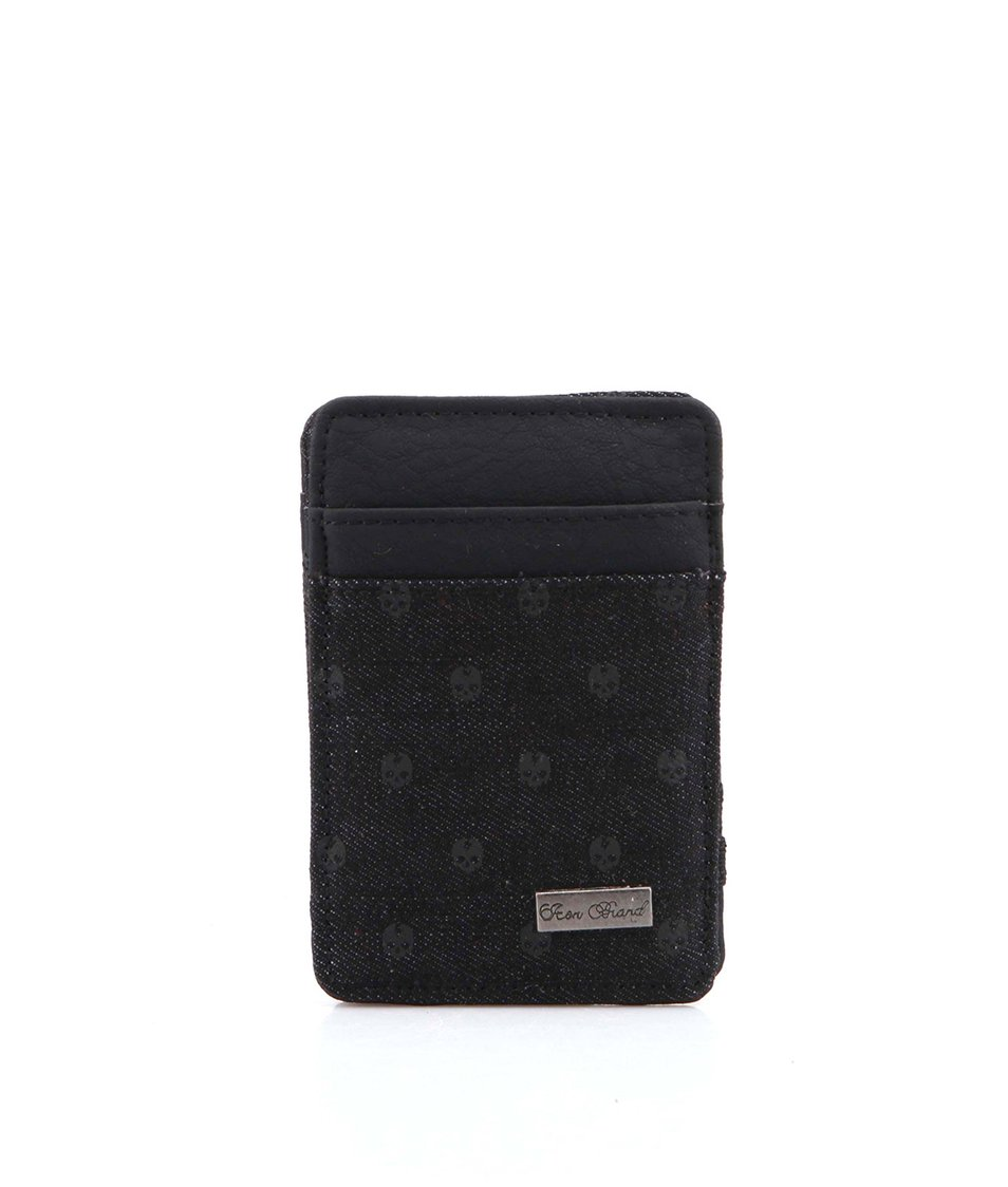 Černá kapesní peněženka s lebkami Icon Brand Buffalo Soldier
