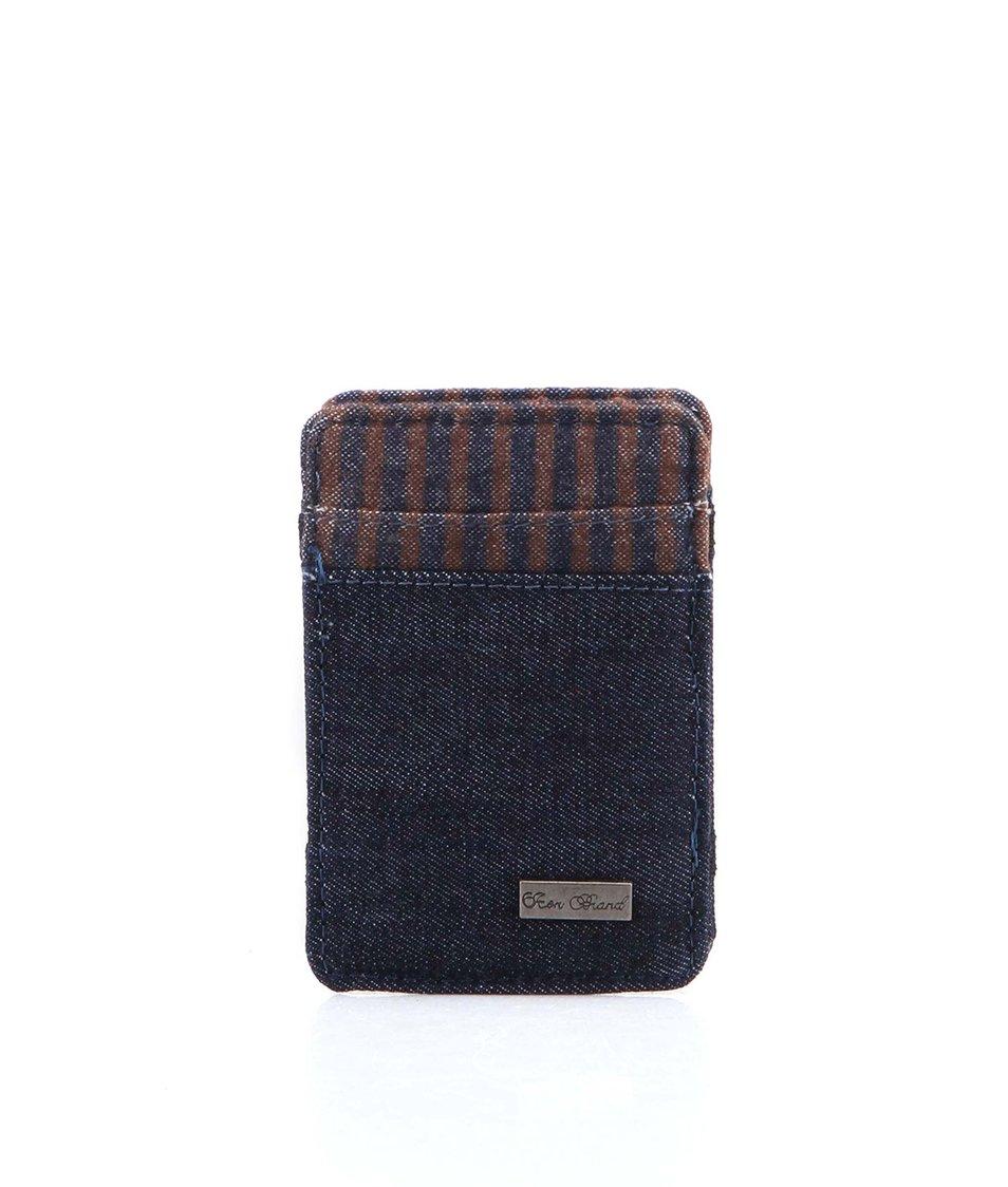 Džínově modrá kapesní peněženka Icon Brand Angel City