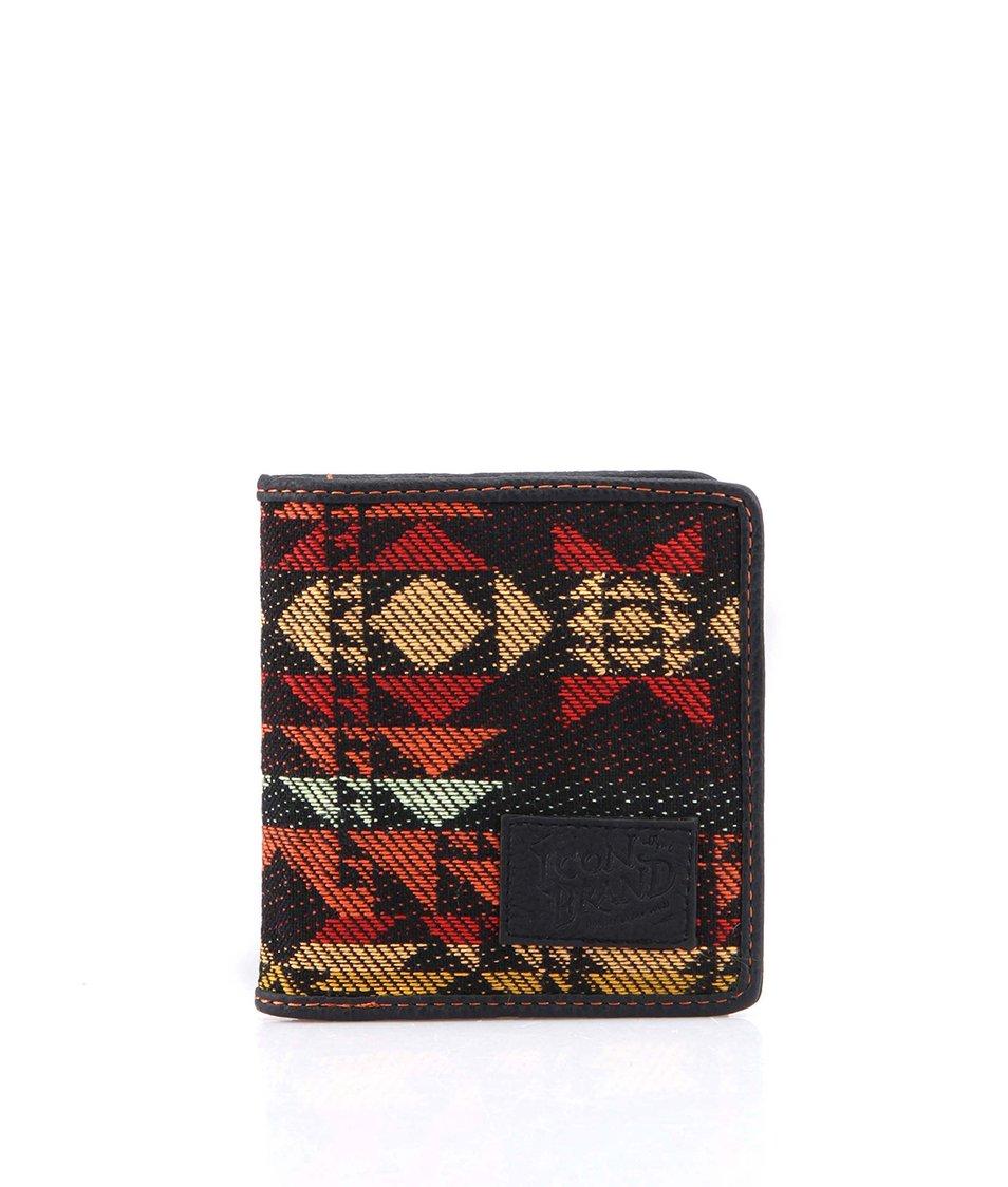 Černá kapesní peněženka s aztéckým vzorem Icon Brand