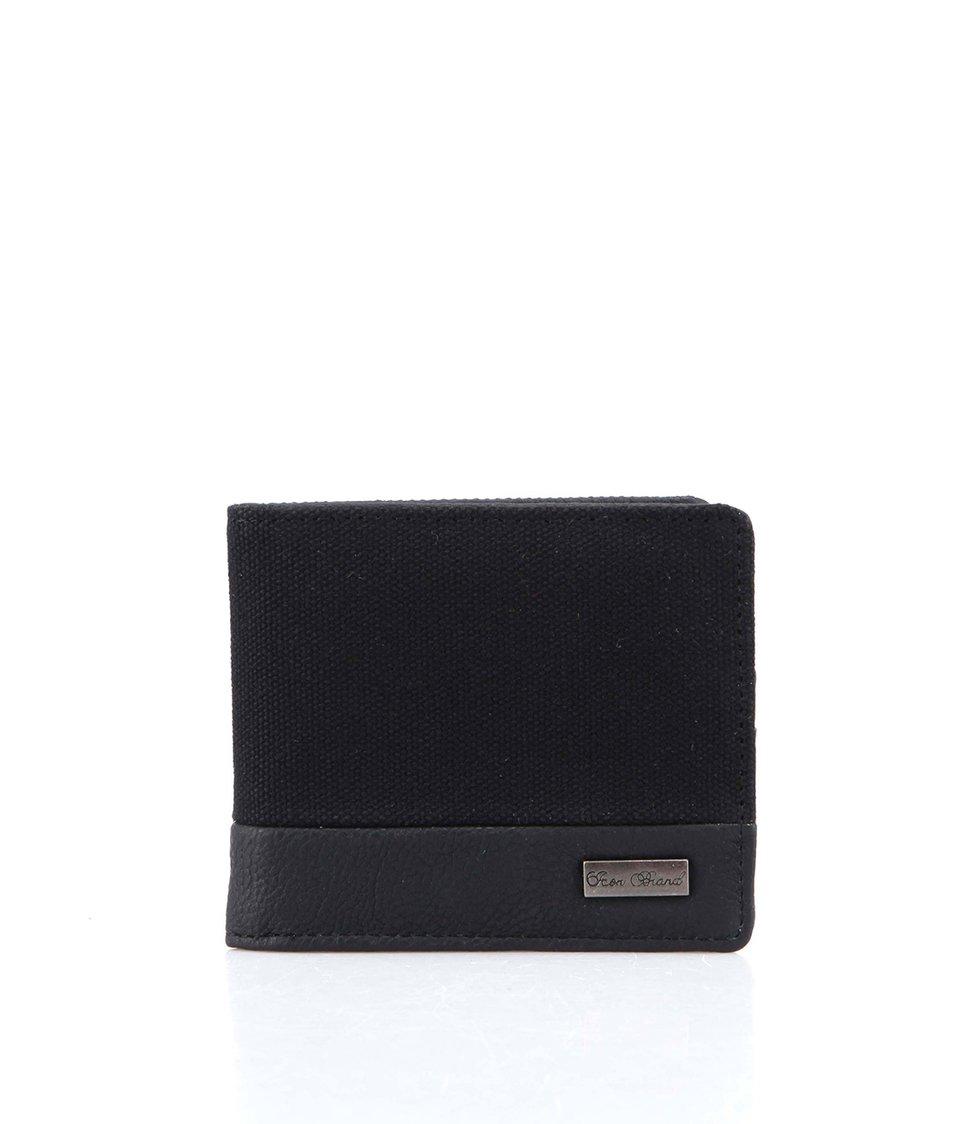 Černá kapesní peněženka s koženkou Icon Brand