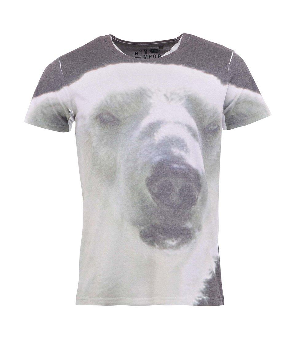 Šedé triko s ledním medvědem !Solid Kinfe