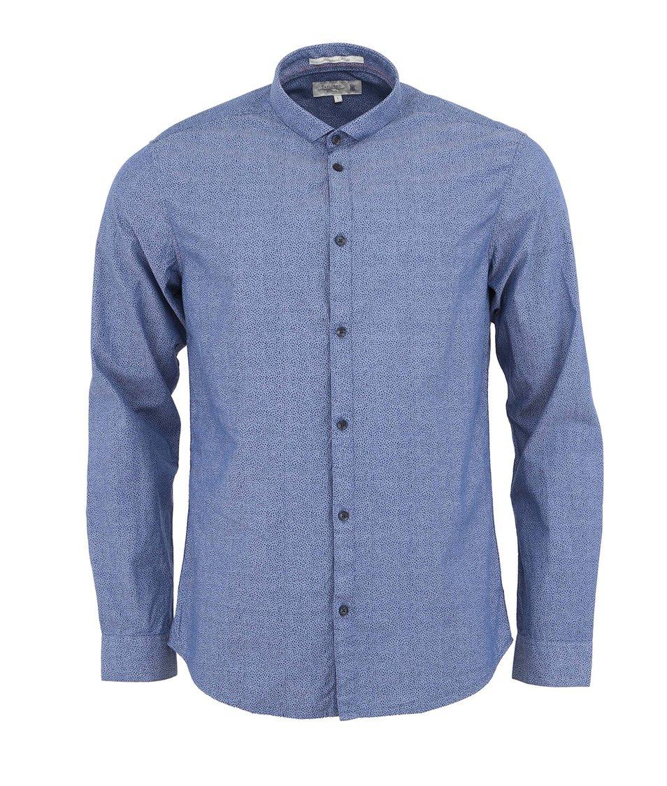 Modrá vzorovaná košile !Solid Heiton