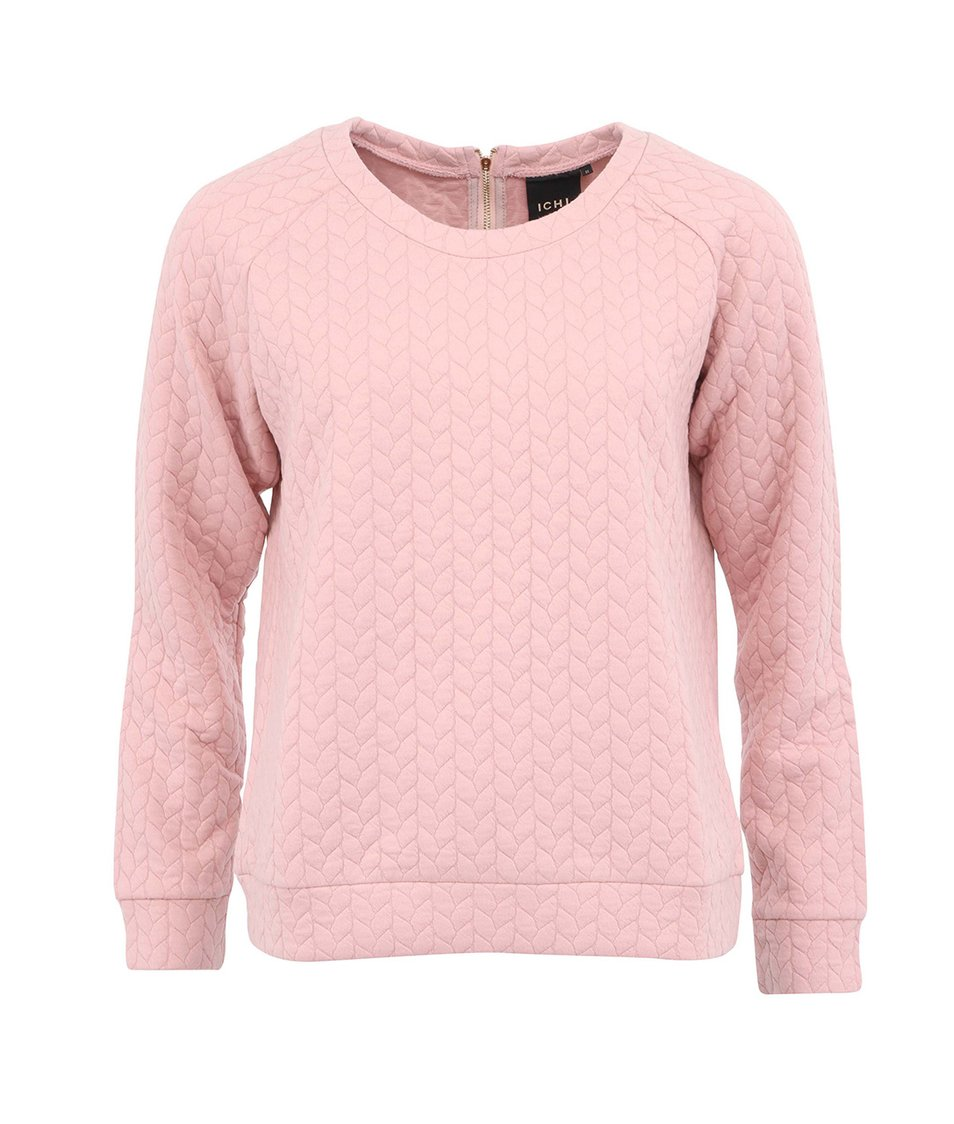 Pudrově růžová mikina ICHI Qlla
