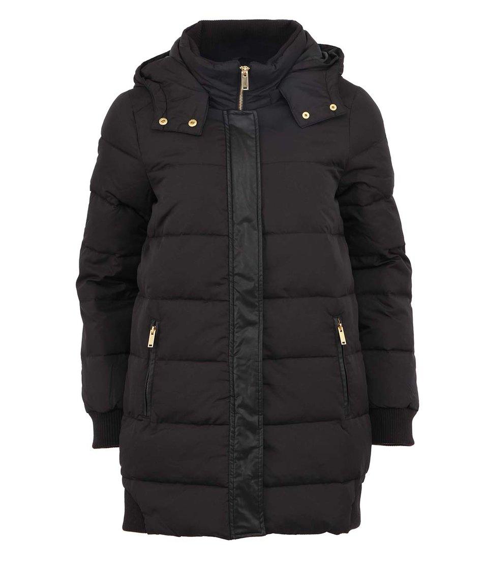 Černý prošívaný kabát Vero Moda Younger