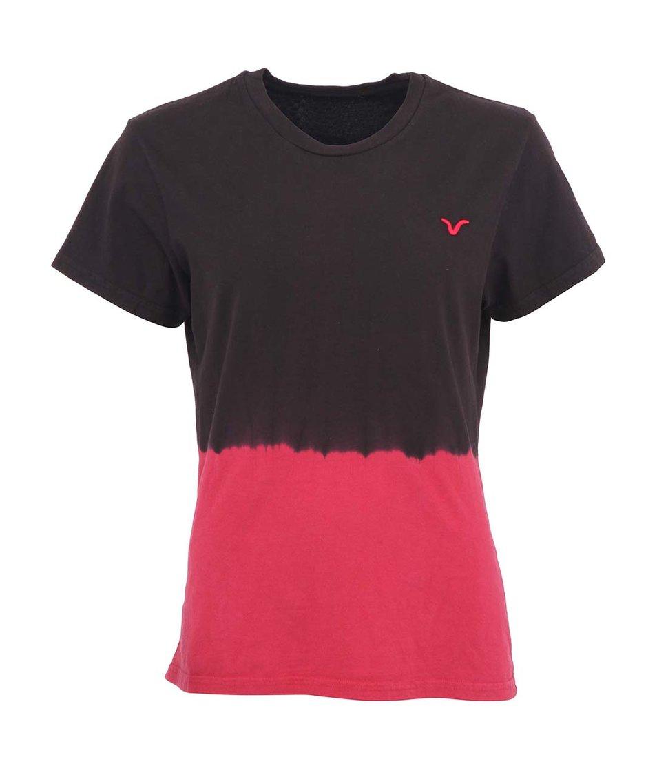 Růžovo-hnědé dámské tričko Voi Jeans Lady Eden