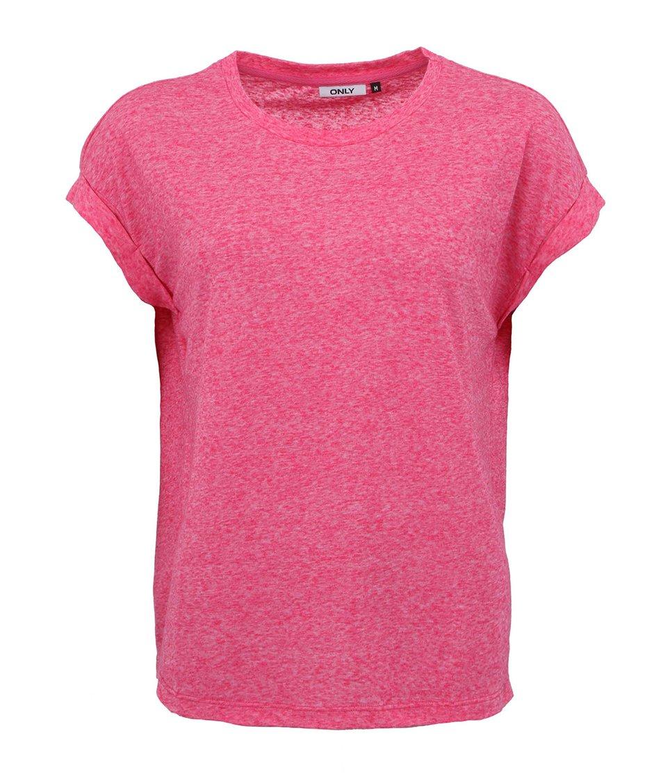 Růžové tričko ONLY Milja