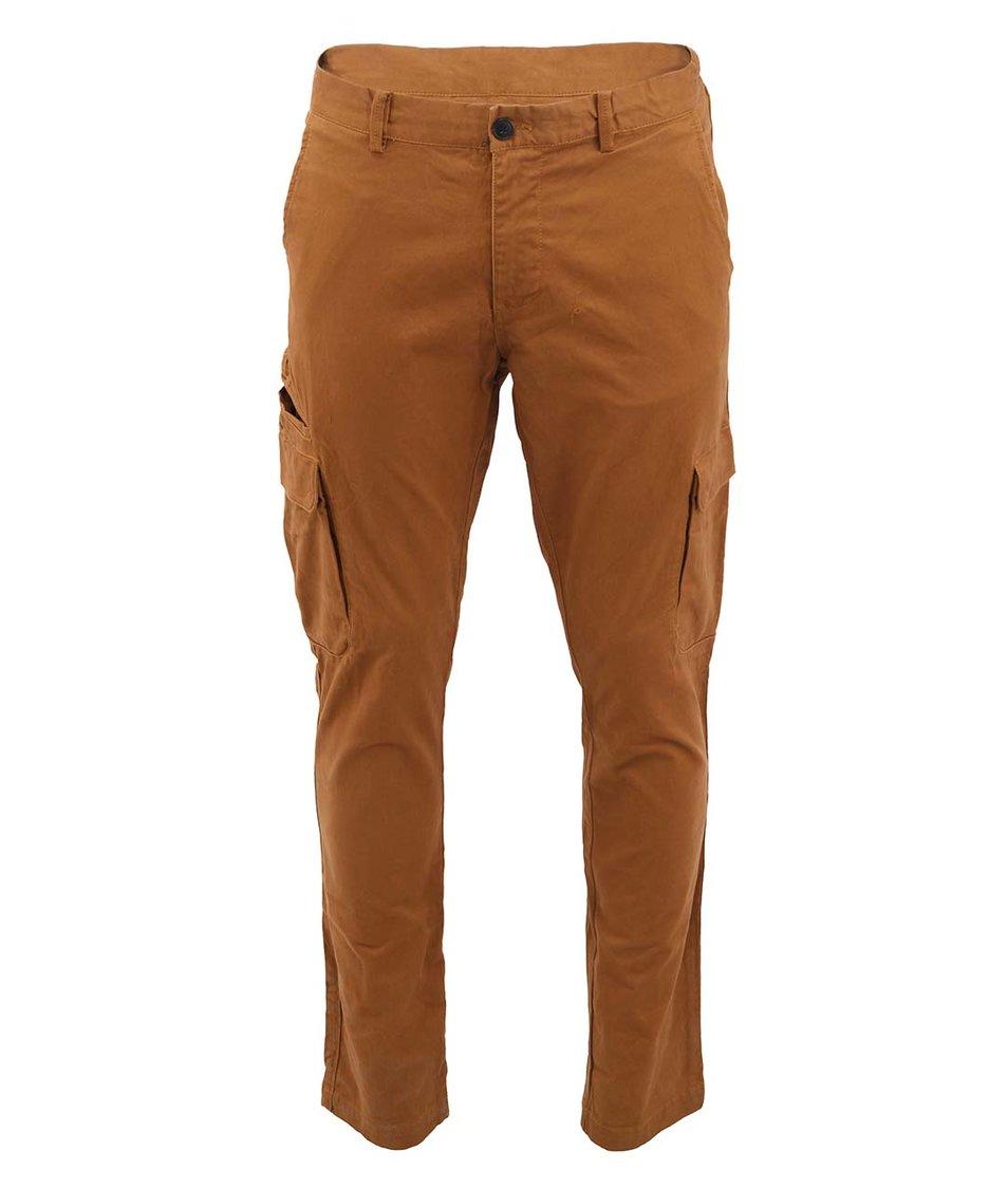 Hnědé kalhoty s kapsami Selected Cark
