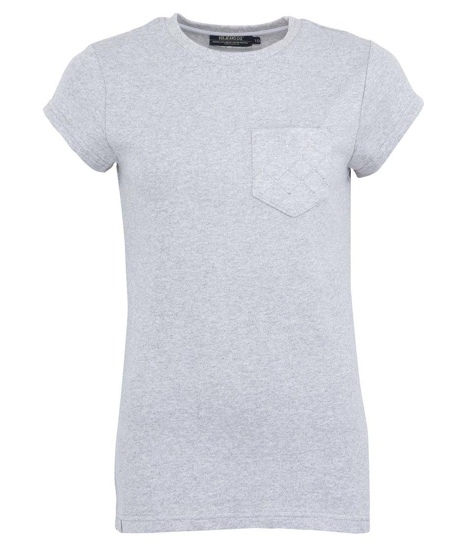 Šedé tričko Voi Jeans Lady Thorntn