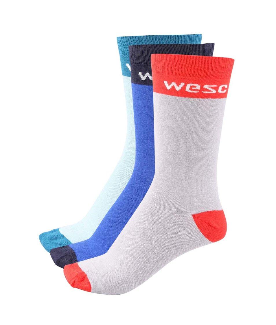 Sada tří pánských barevných ponožek WeSC Fairbanks