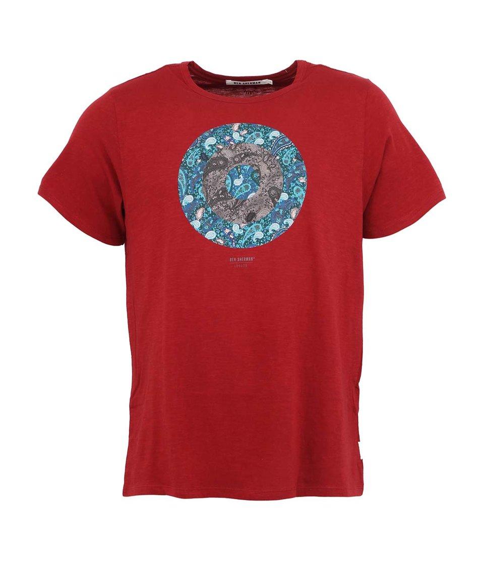 Červené pánské tričko s potiskem Ben Sherman