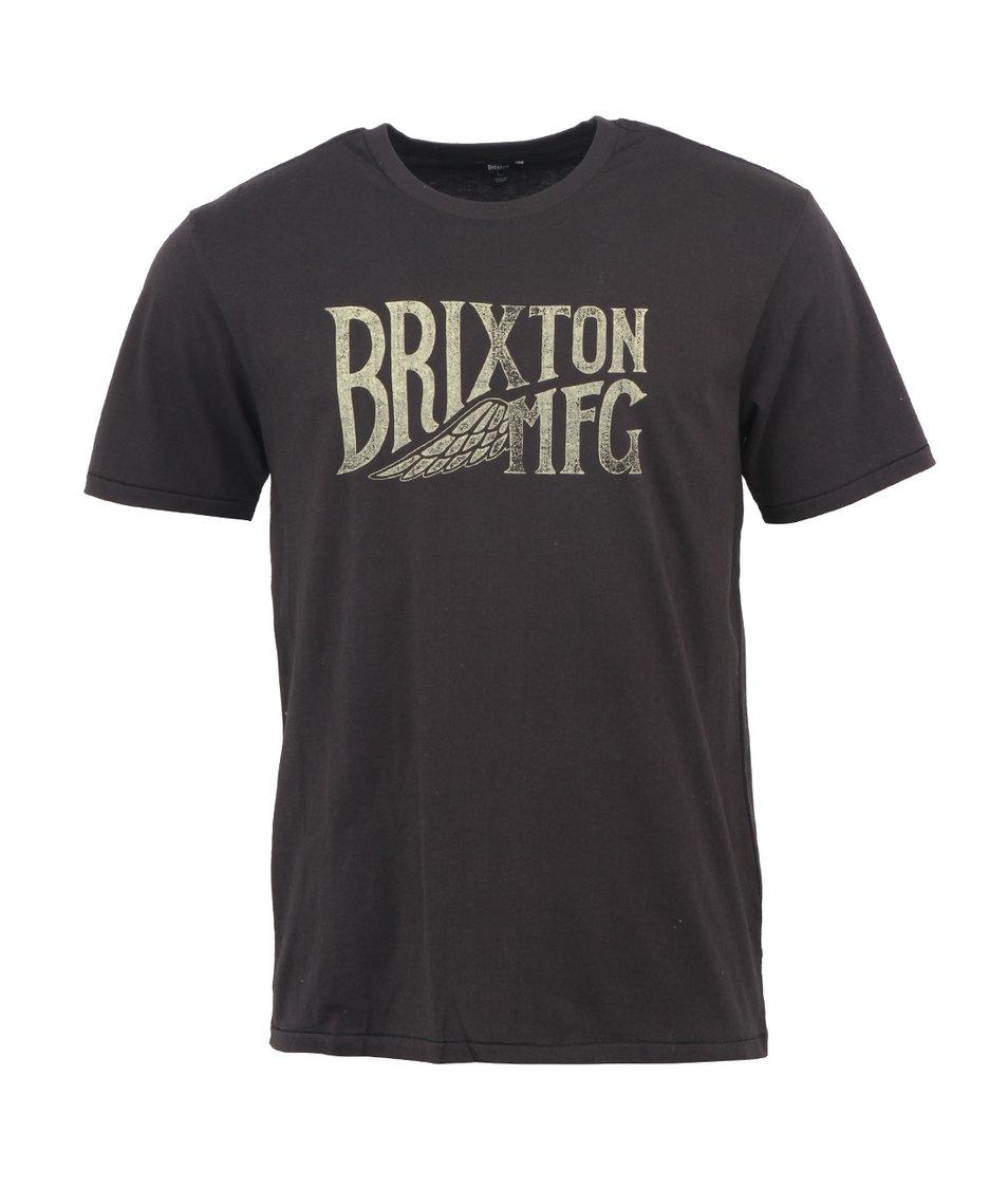 Černé pánské triko s potiskem Brixton Coventry