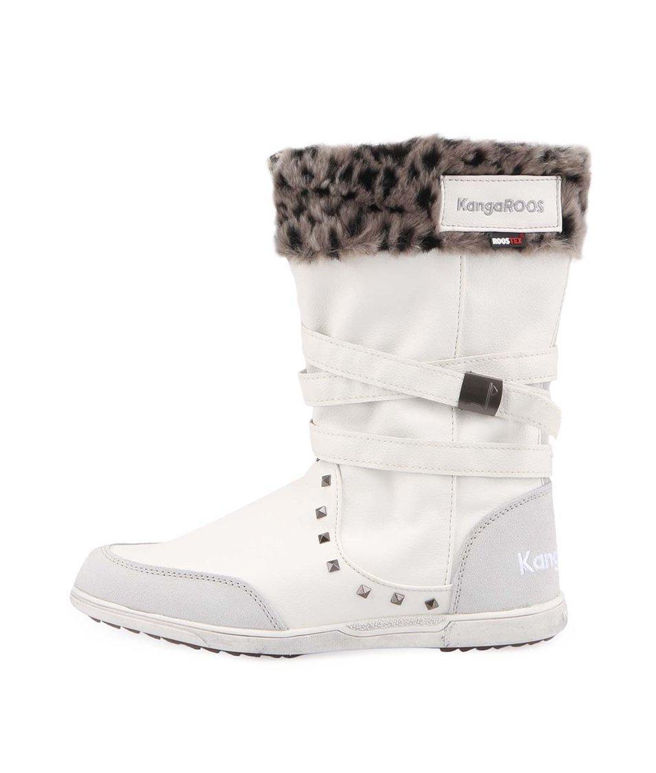 Bílé dámské zimní boty s kožíškem KangaROOS K-Boot