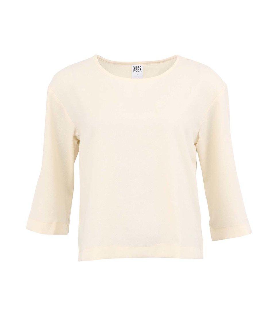 Bílý volnější top Vero Moda Kion
