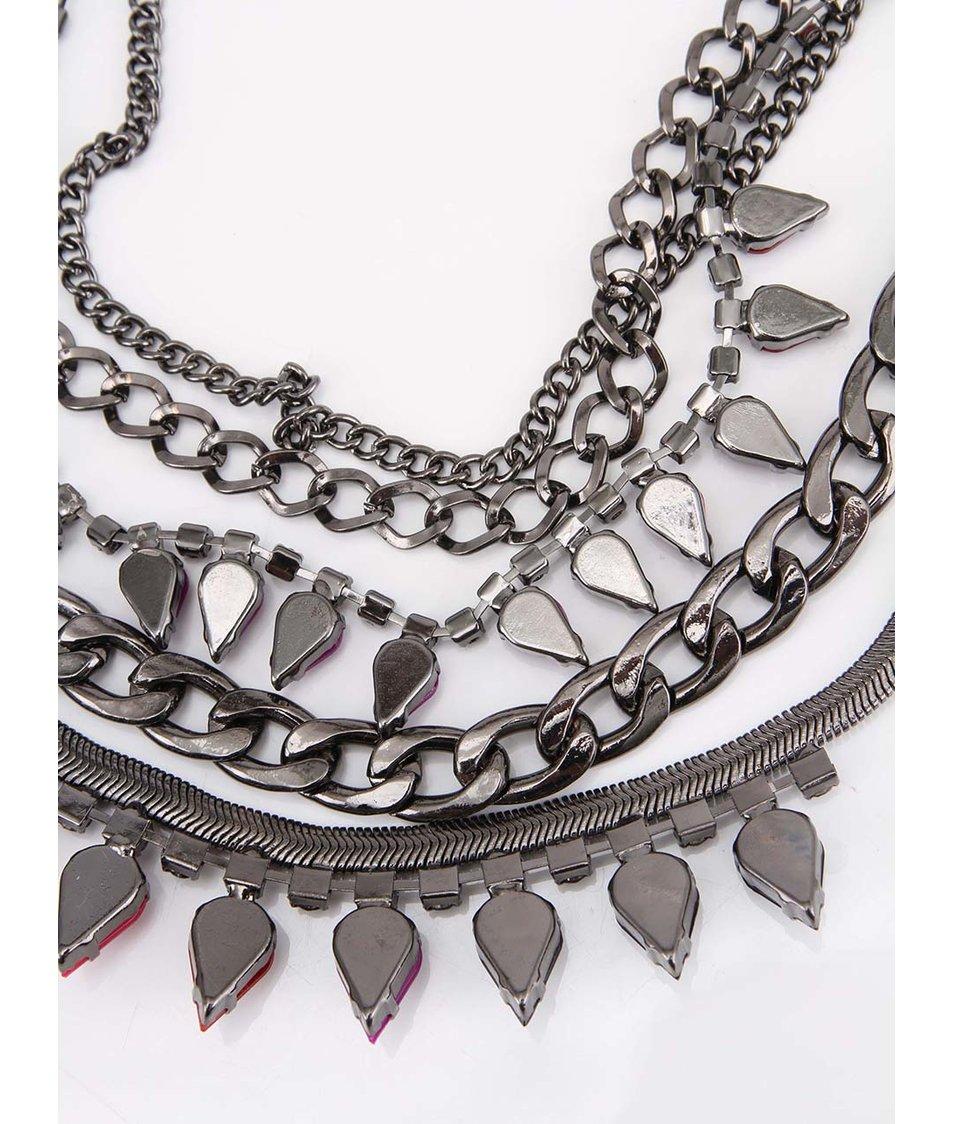 Vrstvený náhrdelník s barevnými kamínky Little Mistress