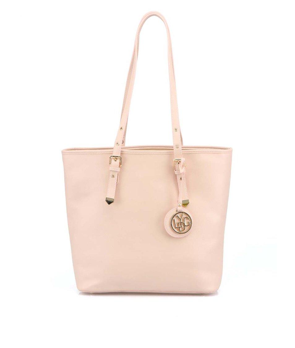 Světle růžová stylová kabelka LYDC