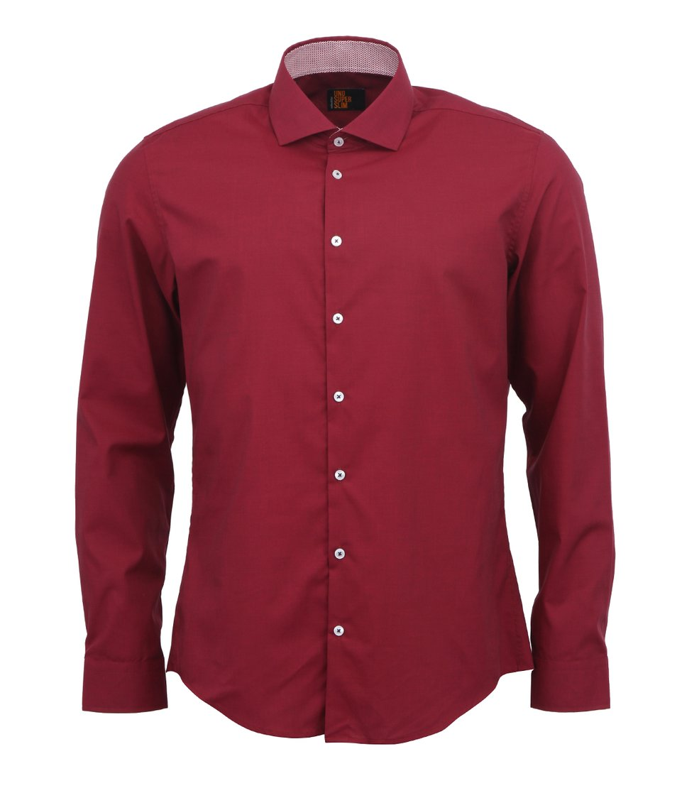 Vínová košile Seidensticker Uno Super Slim Fit