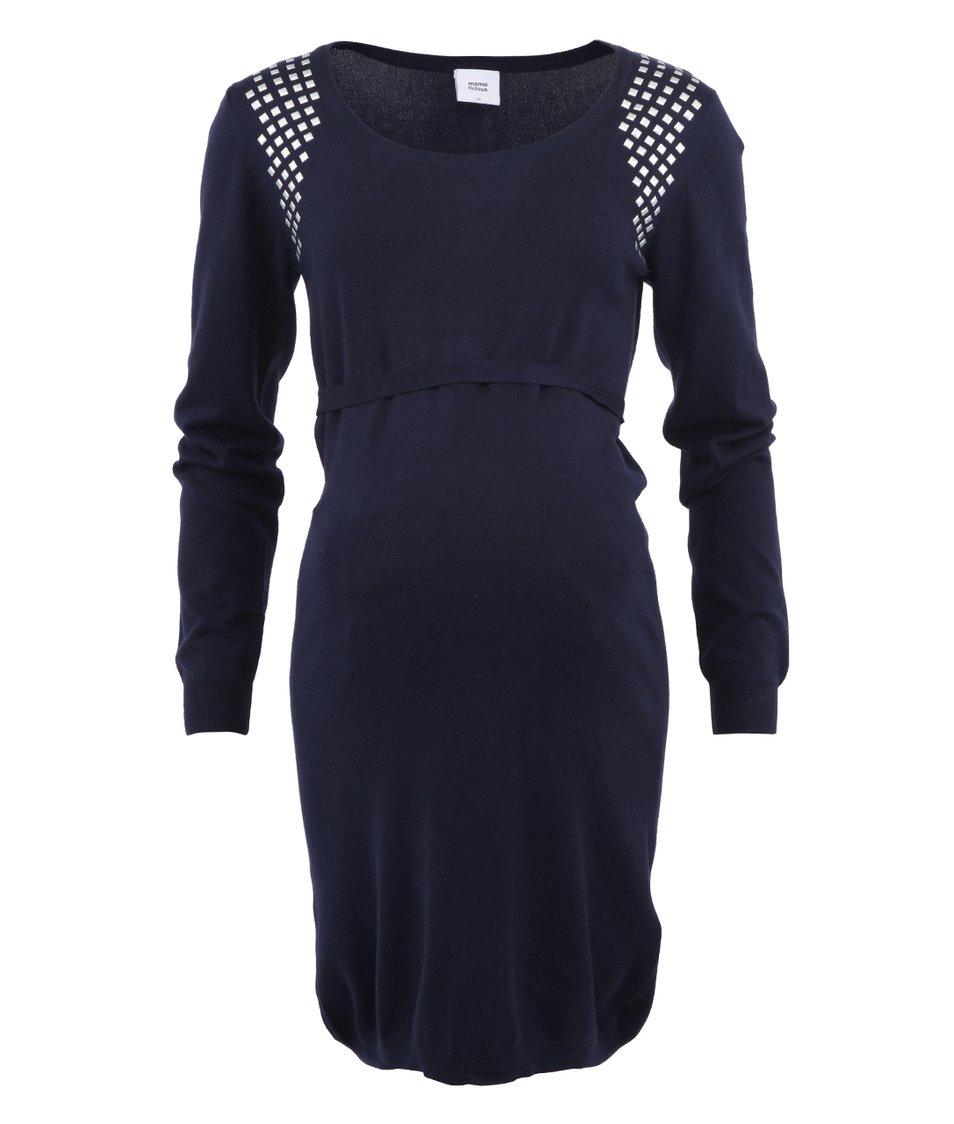 Tmavě modré šaty s cvočky Mama.licious Louisa