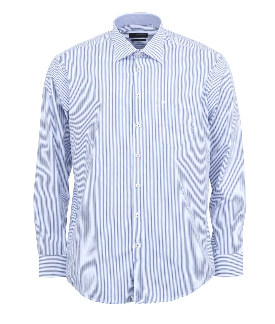 Modro-bílá pruhovaná košile Seidensticker Uno Regular Fit