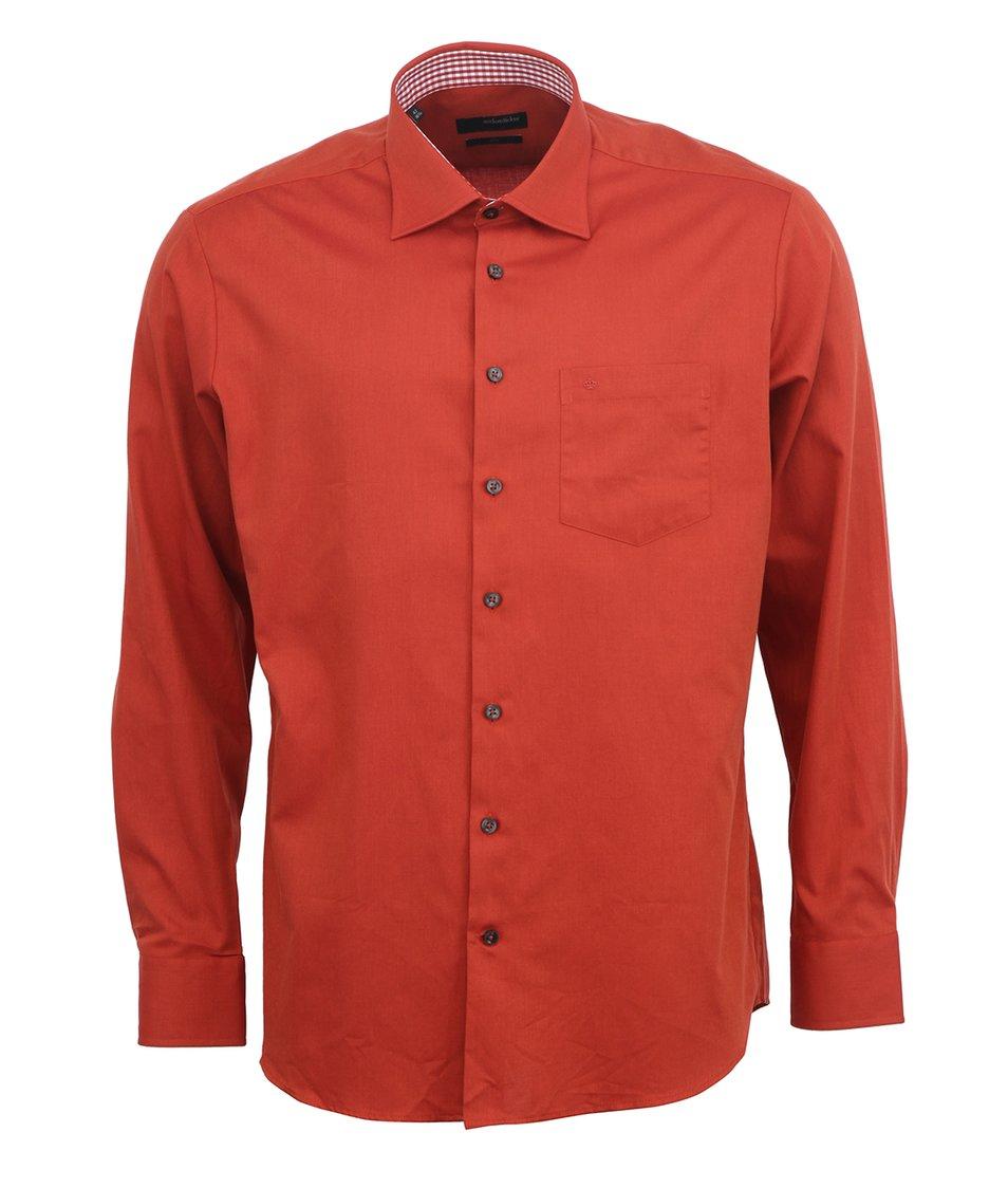 Červená košile Seidensticker Uno Regular Fit