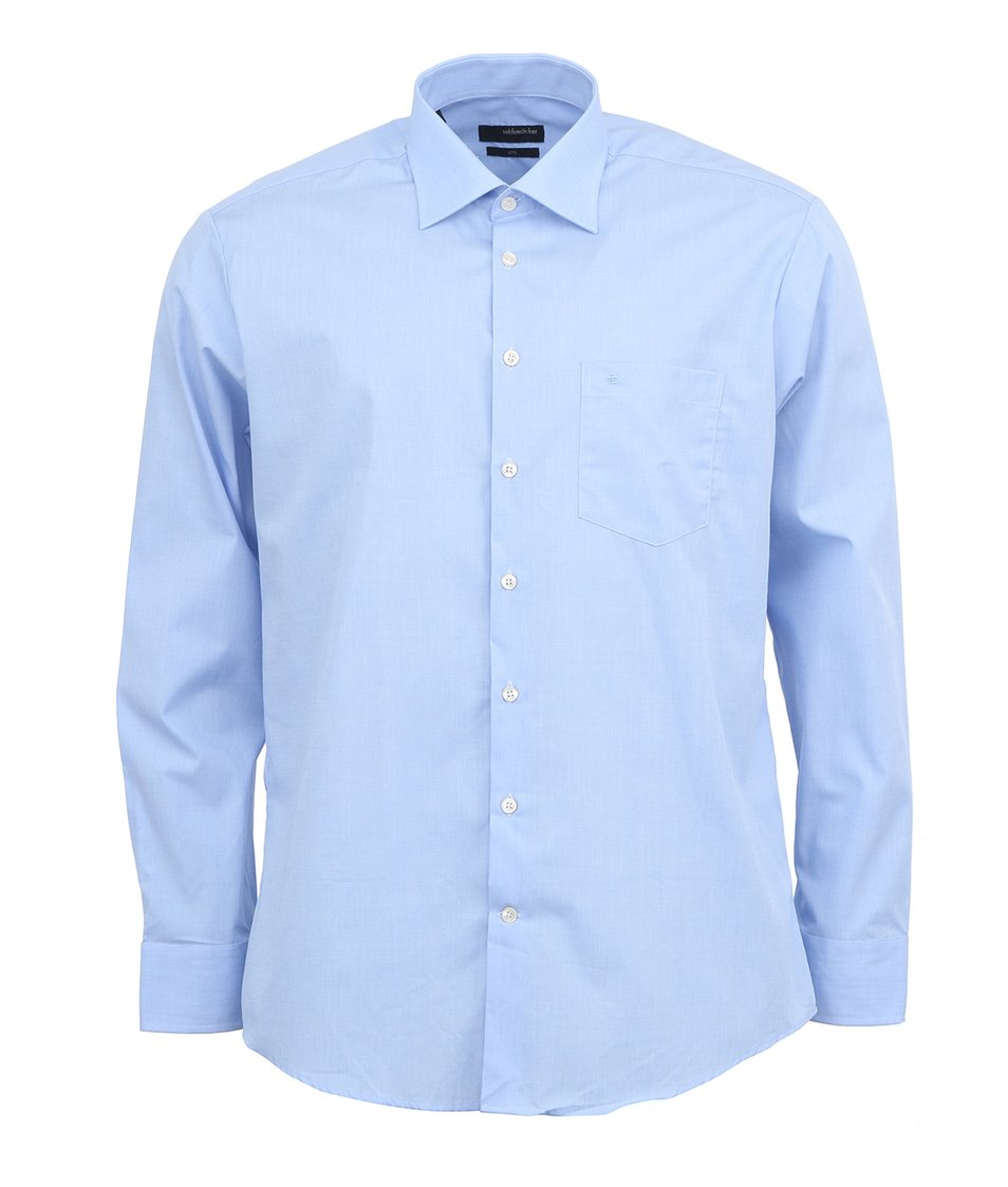 Světle modrá košile Seidensticker Uno Regular Fit