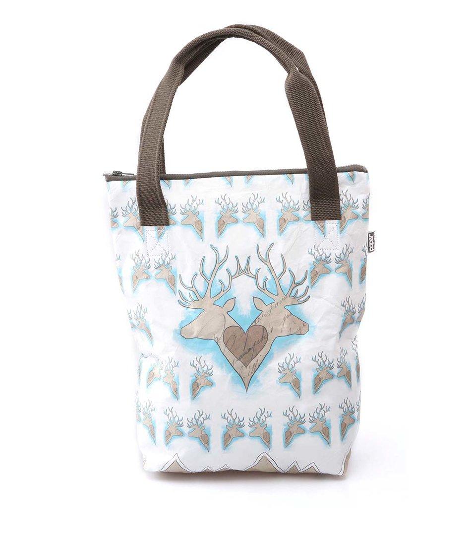"""Bílá """"papírová"""" taška přes rameno Dogo Deer In Love"""