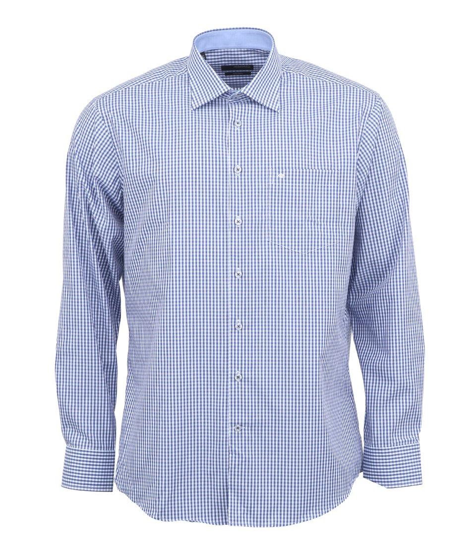 Modro-bílá kostkovaná košile Seidensticker Splendesto Regular Fit