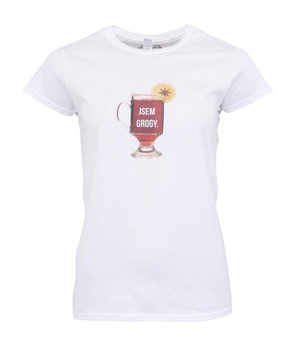 Bílé dámské tričko ZOOT Originál Jsem grogy
