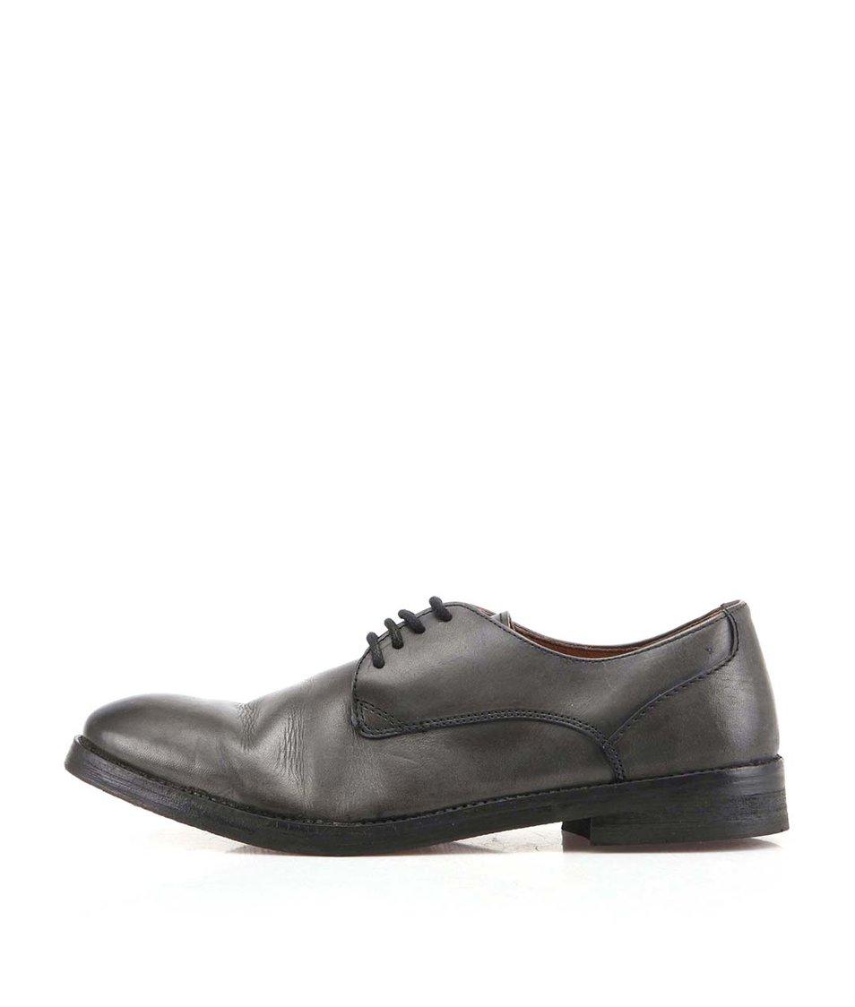 Černé kožené boty Frank Wright Bognor