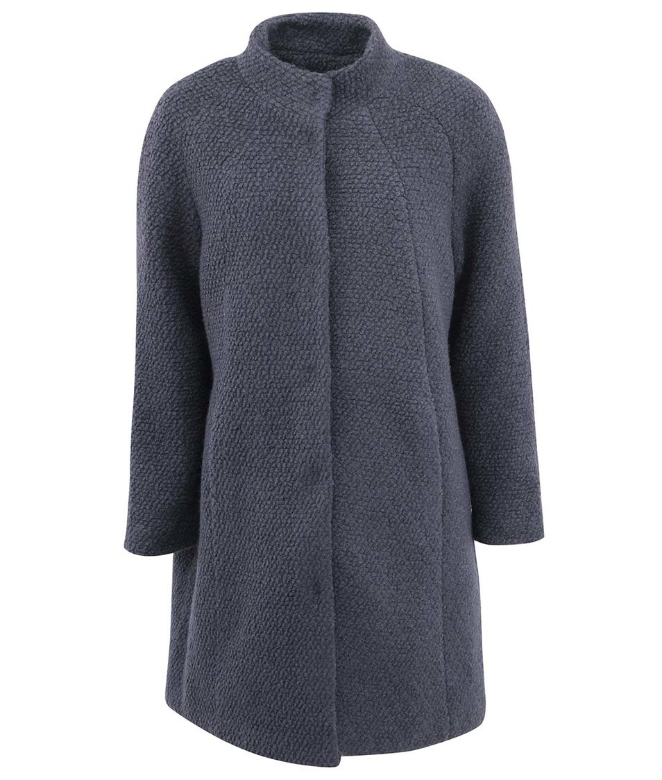 Modro-šedý kabát JUNAROSE Funk