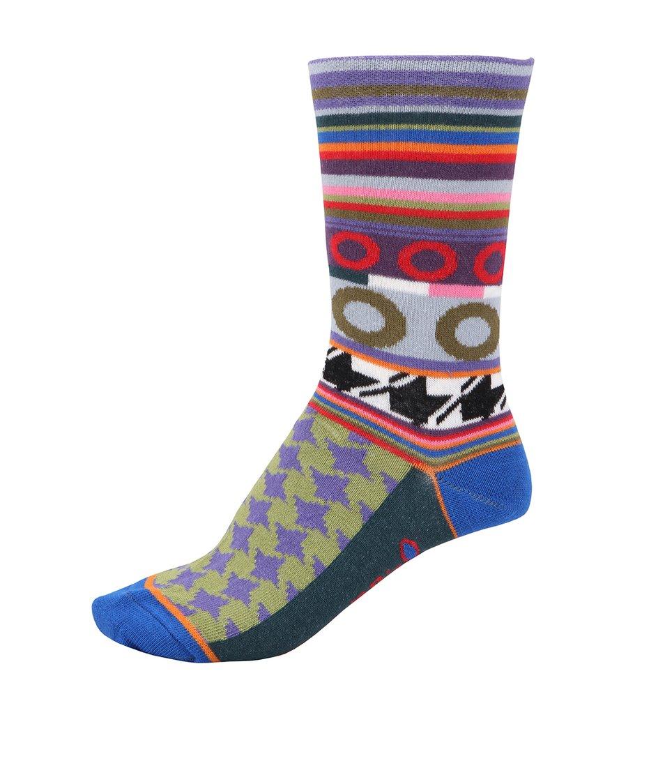 Barevné dámské ponožky s proužky Dub & Drino