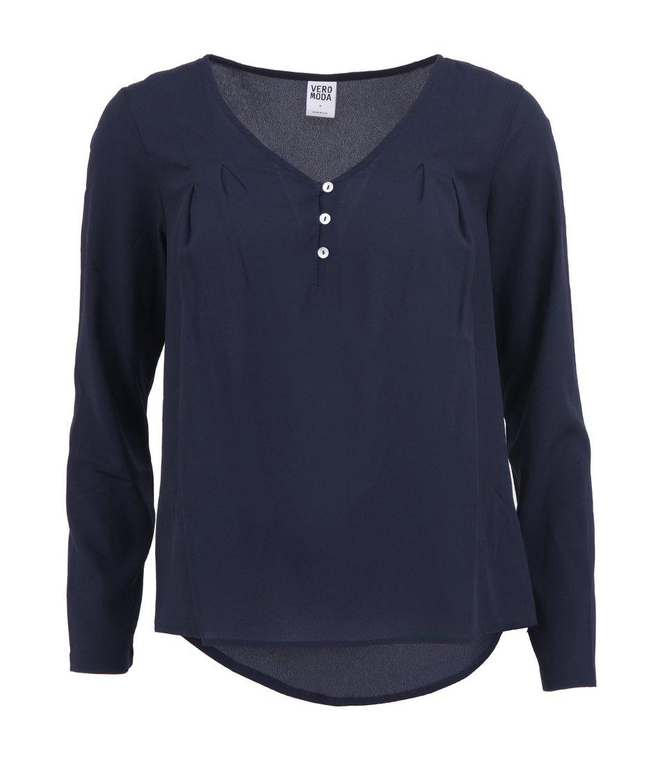 Tmavě modrá volnější halenka Vero Moda Cathrine