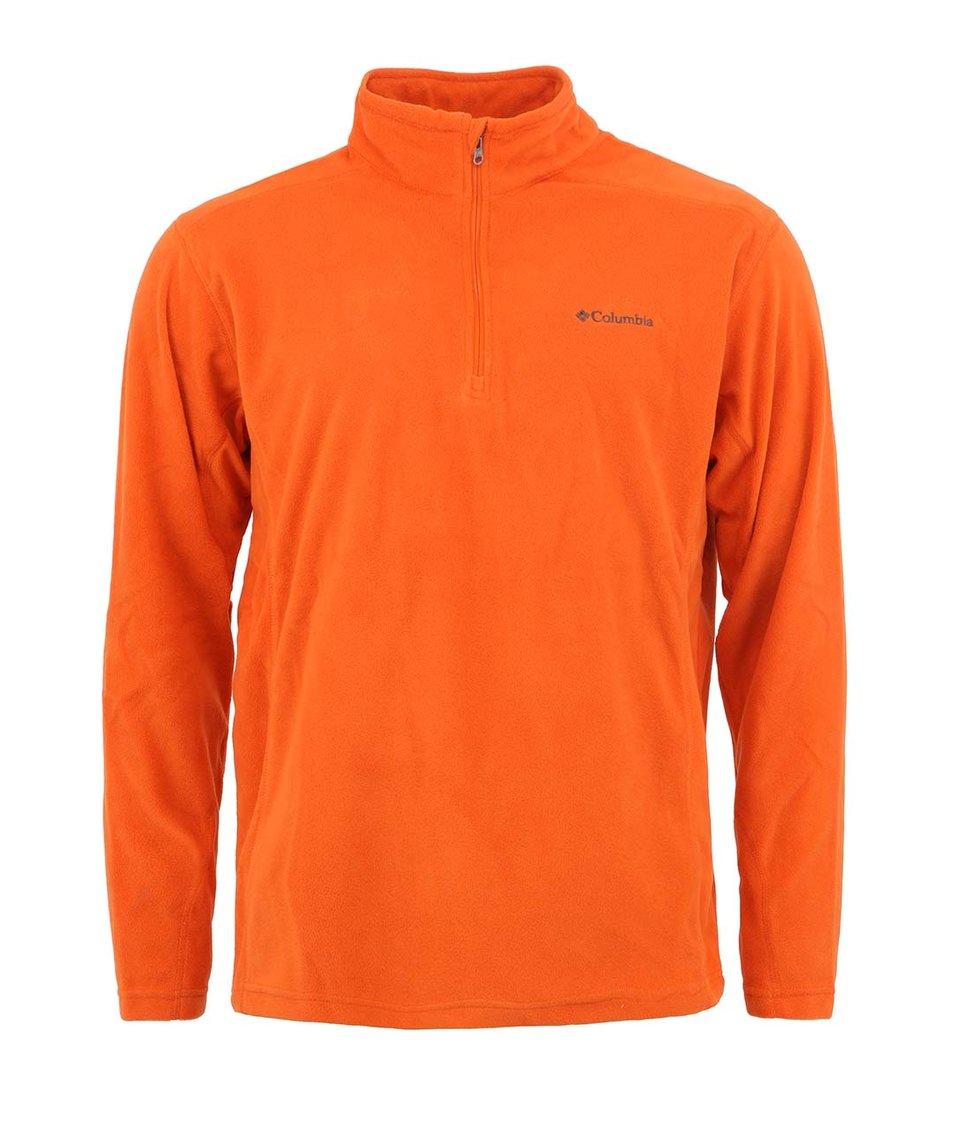 Oranžová pánská fleecová mikina Columbia Klamath Range