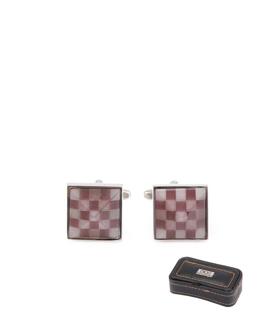 Kostkované manžetové knoflíčky Dice Checker