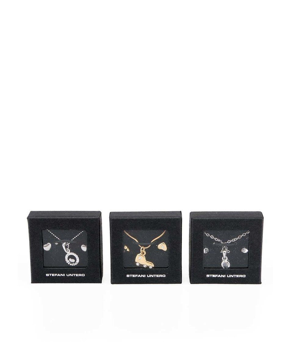 Set tří náhrdelníků a tří párů náušnic Pierre Cardin