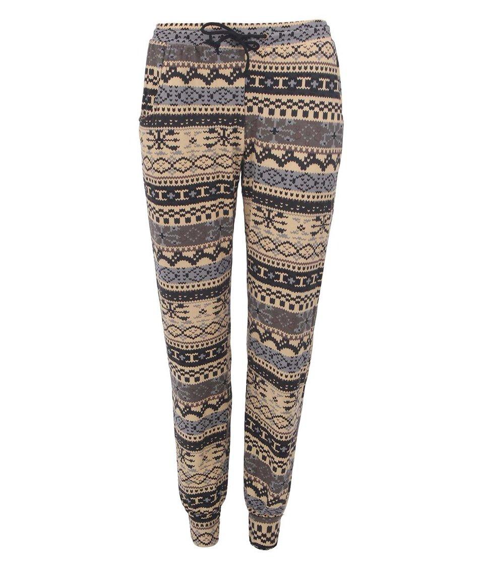 Barevné vzorované volné kalhoty Leggsington Susy