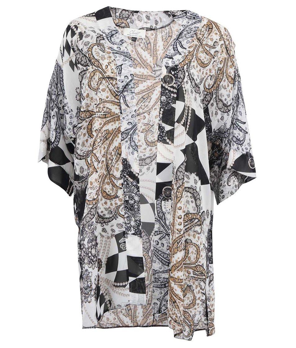 Černo-bílé kimono se vzorem Closet