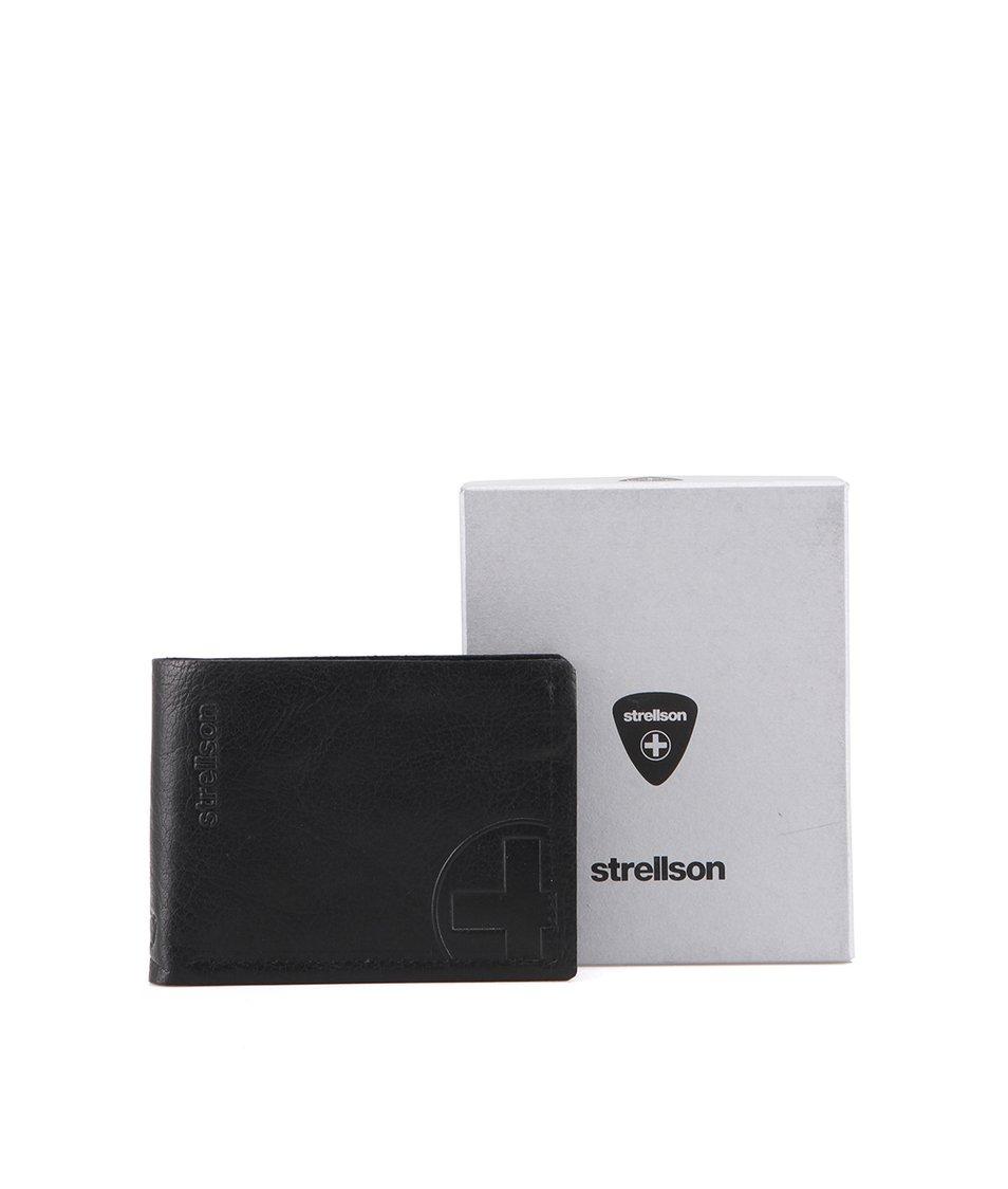 Černá kožená peněženka Strellson Edwyn