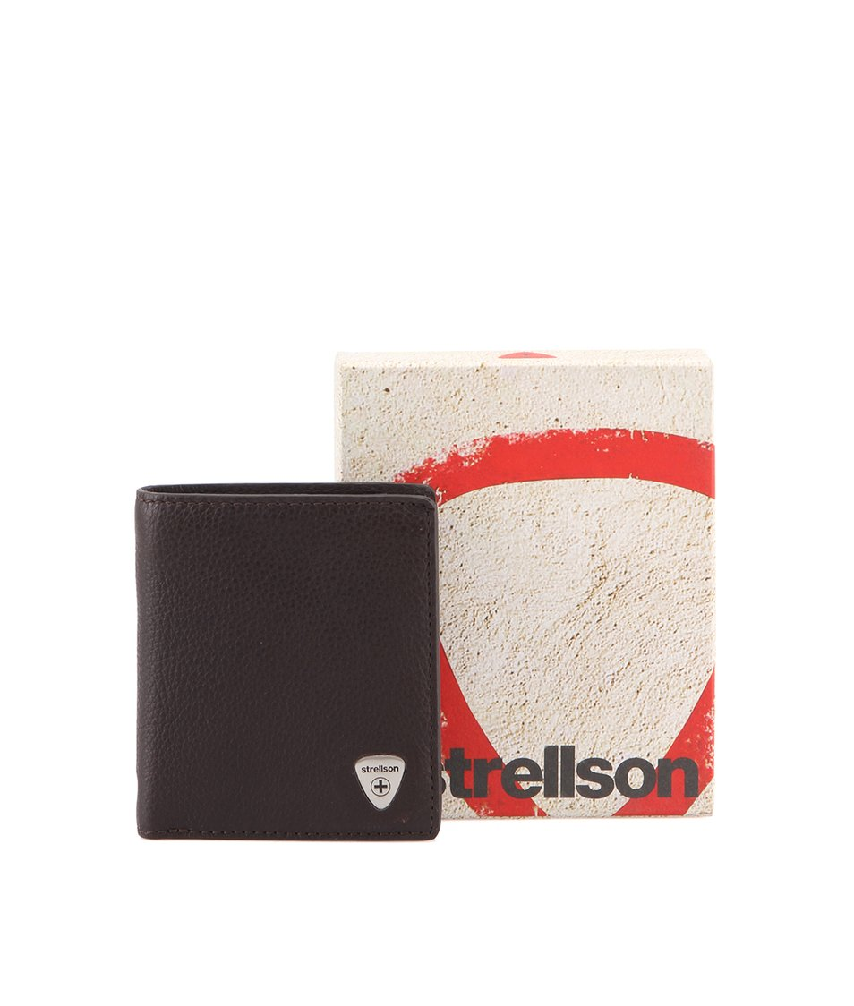 Tmavě hnědá kožená peněženka Strellson Harrison V8