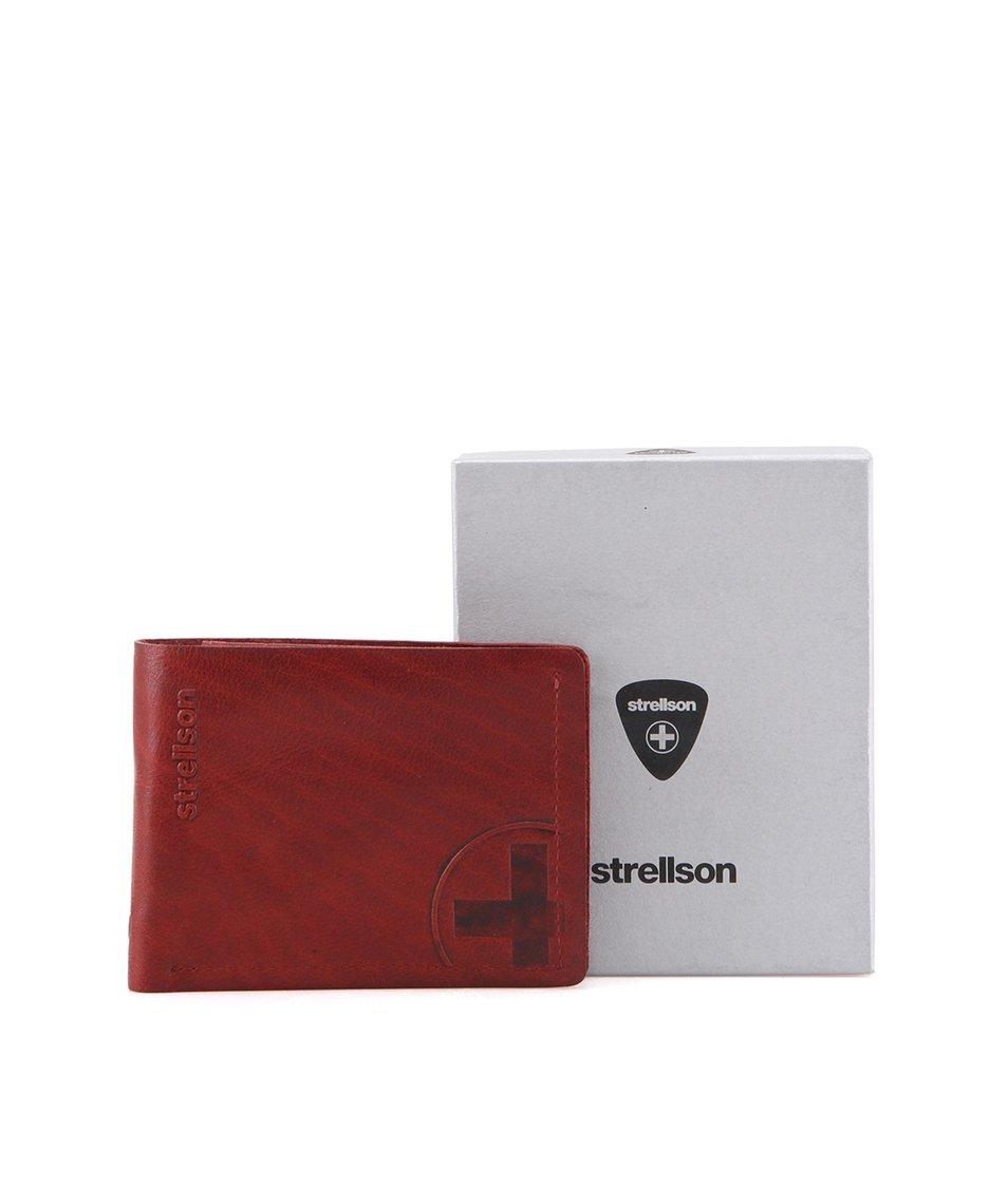 Vínová kožená peněženka Strellson Edwyn