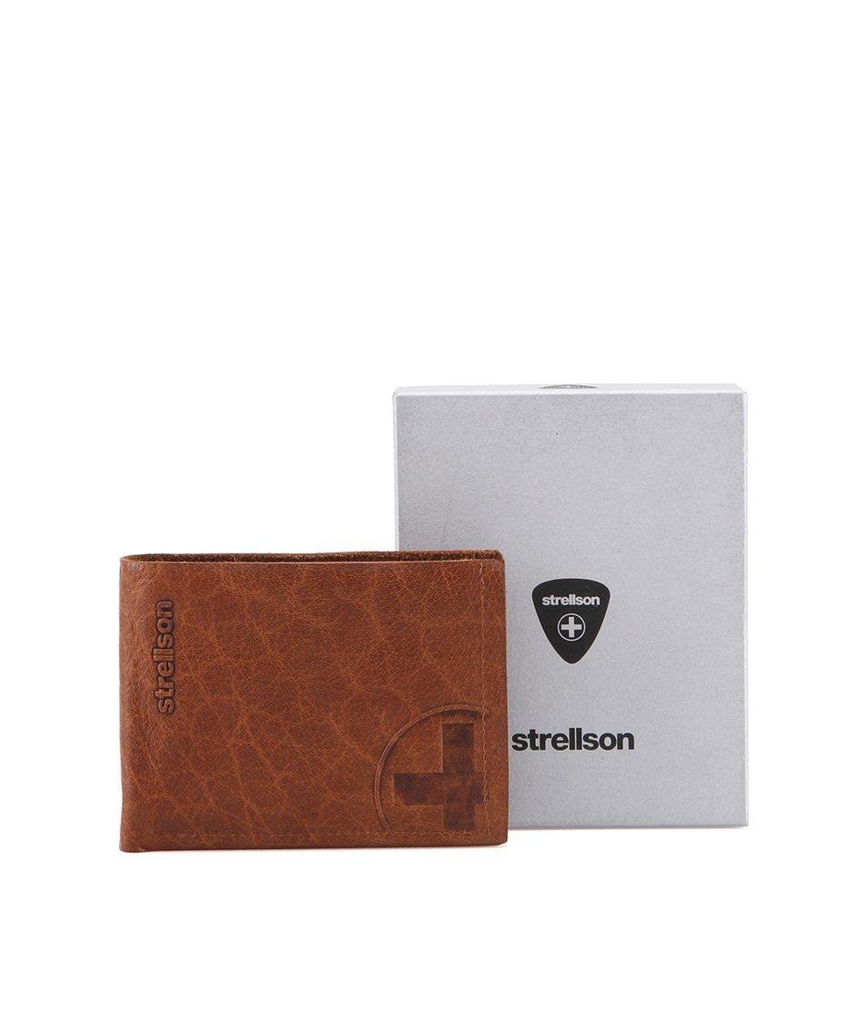 Hnědá kožená peněženka Strellson Edwyn